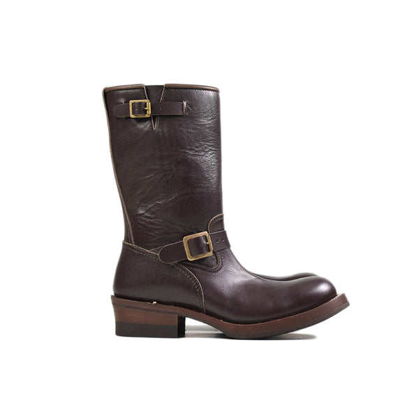 AD-S-01 STEERHIDE ENGINEER BOOTS - BROWN