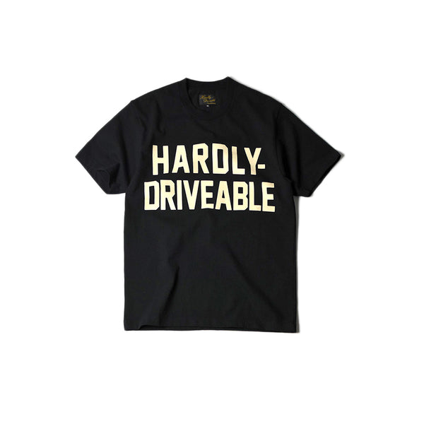 HARDLY-DRIVEABLE Short Sleeve Shirts - BLACK (Straight)