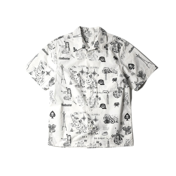 May club -【WESTRIDE】CALIFORNIA SOUVENIR SHIRTS - WHITE