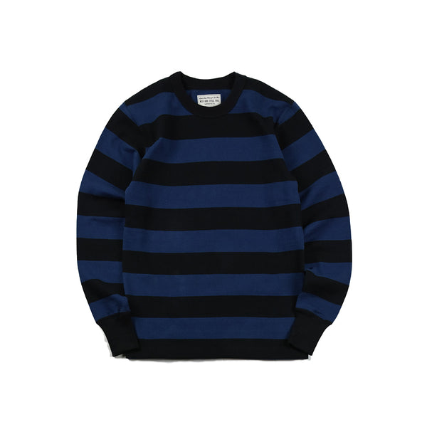 HEAVY BORDER LONG SLEEVES TEE - BLK/NVY