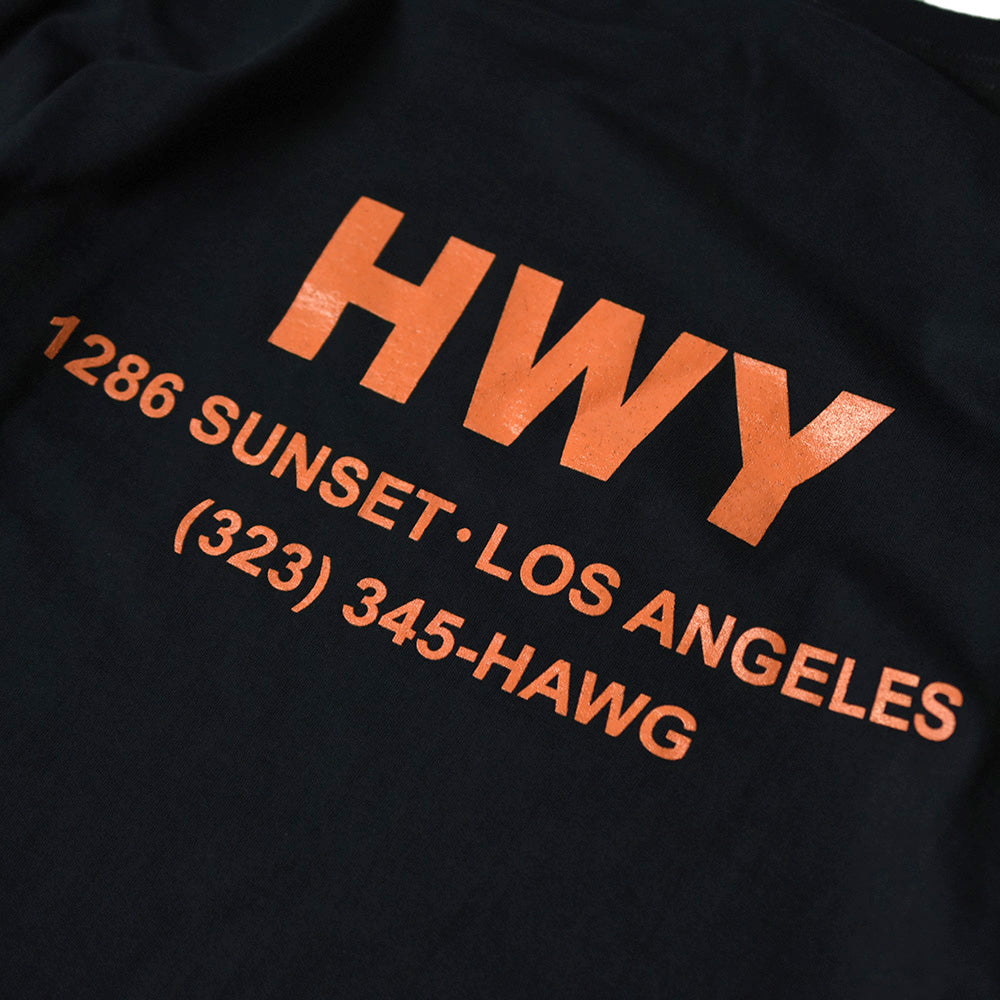 May club -【HWY】HAWG LONG SLEEVE TEE - BLACK