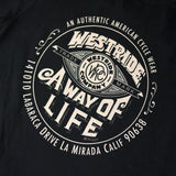 "May club -【WESTRIDE】""A WAY OF LIFE"" TEE - BLACK"