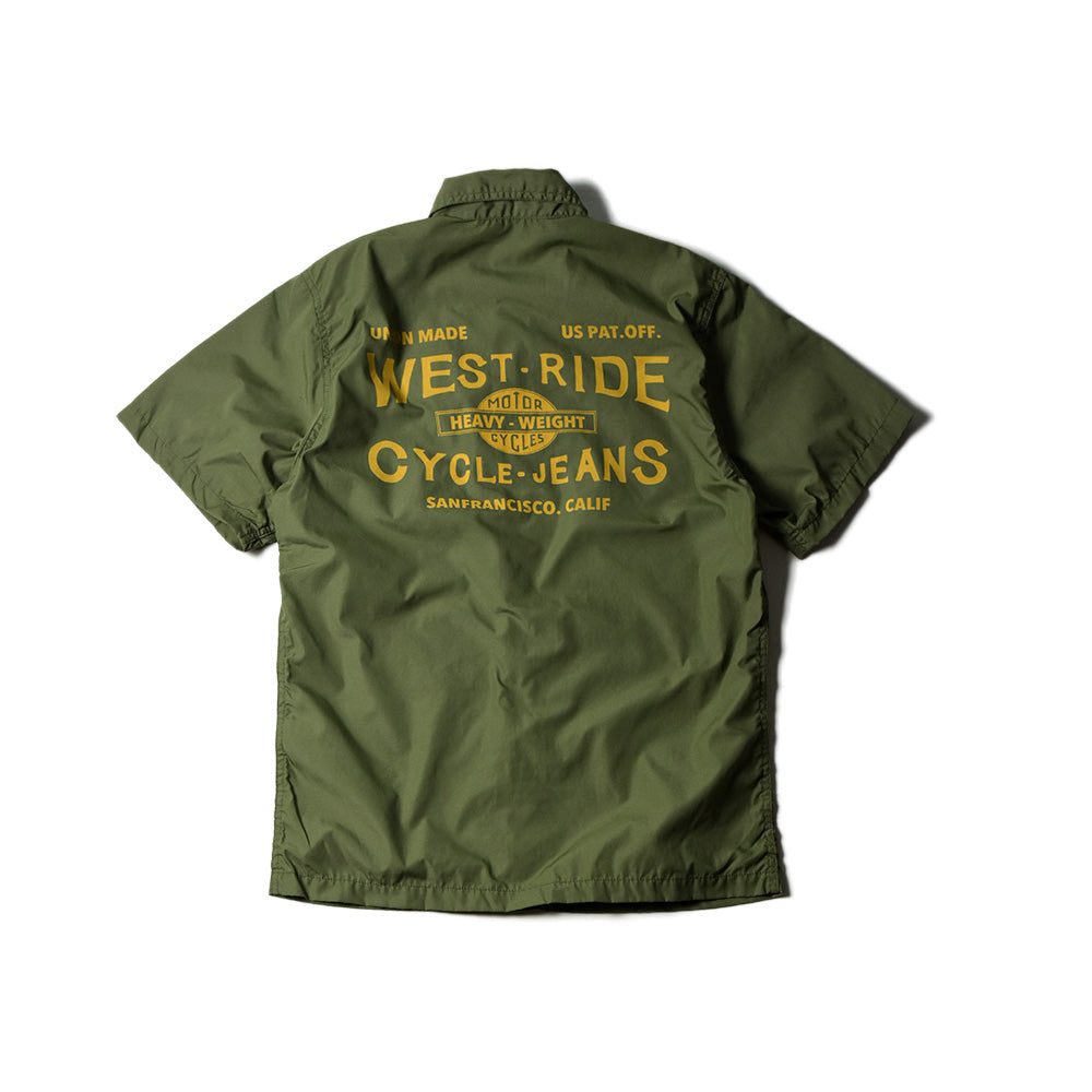 May club -【WESTRIDE】SNAP WORK S/S SHIRTS (CYCLE-JEANS)  - OLIVE