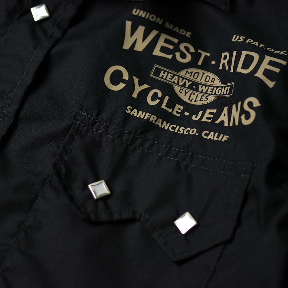 May club -【WESTRIDE】SNAP WORK S/S SHIRTS (CYCLE-JEANS)  - BLACK