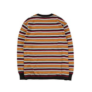 May club -【WESTRIDE】CLASSIC RIB MULTI BORDER L/S SWEATER - GLD/BRD