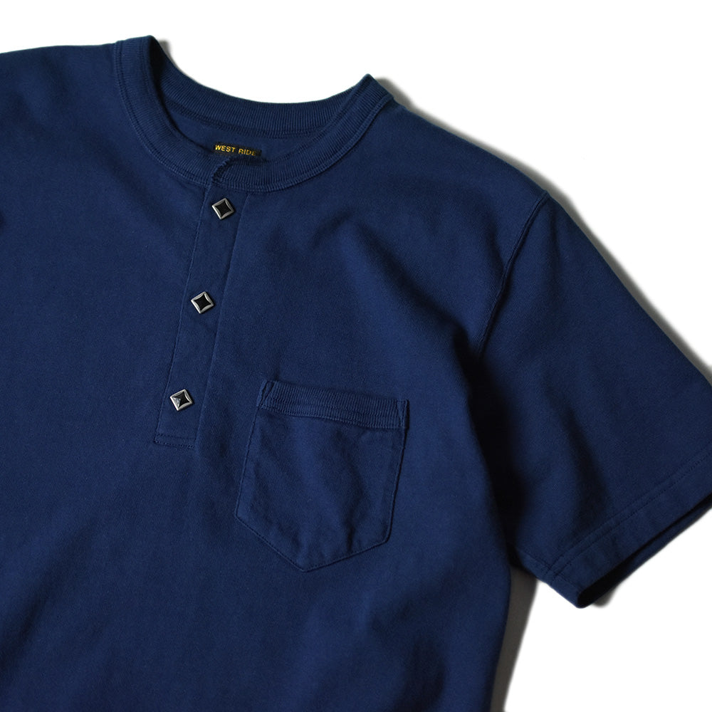 May club -【WESTRIDE】GREEN BOW TEE - NAVY