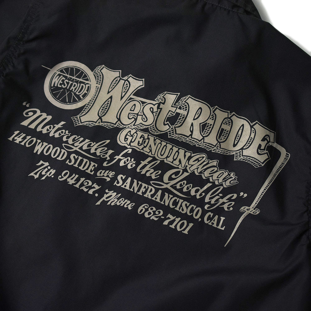May club -【WESTRIDE】SNAP WORK SHIRTS - BLACK