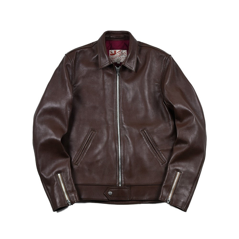 May club -【Addict Clothes】AD-01 Sheepskin Center Zip Jacket - Brown