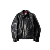 May club -【Addict Clothes】AD-02L HORSEHIDE DOUBLE RIDERS JACKET - BLACK