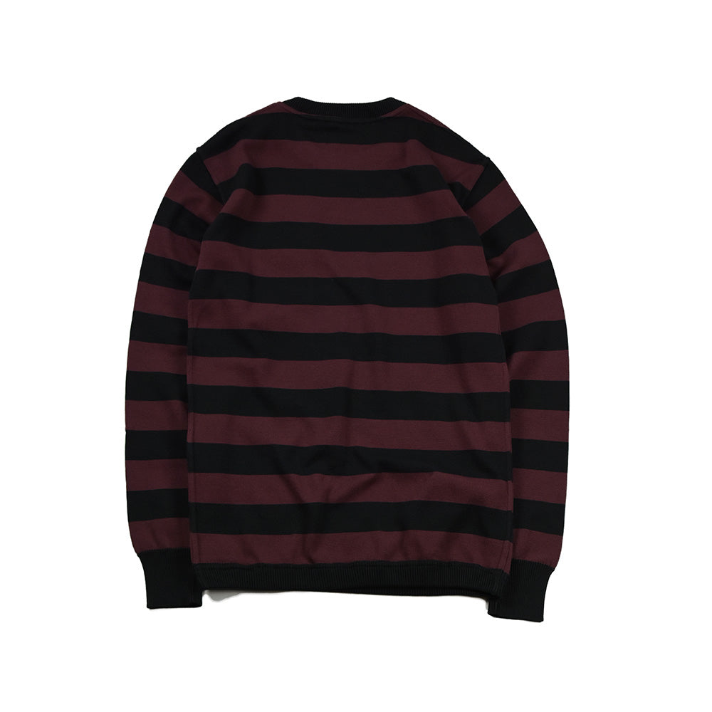 May club -【WESTRIDE】CLASSIC RIB BORDER L/S SWEATER - BLK/BGDY