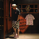 May club -【WESTRIDE】NGT KNIT CHECKER SHORTS - BLK/OFF