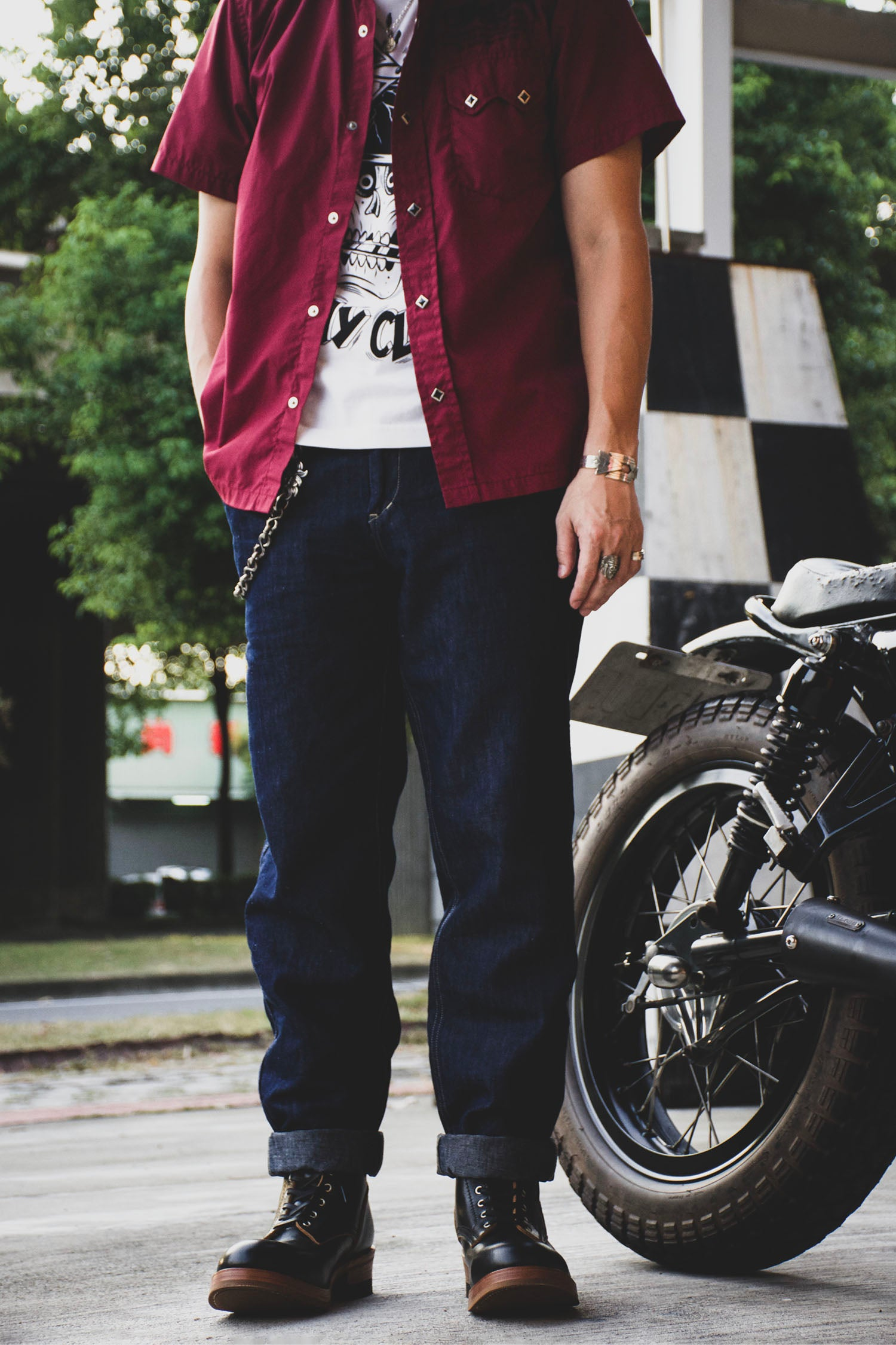 THICK RIDE SLIM CHINO - DENIM