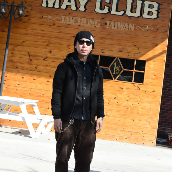 May club -【Addict Clothes】ACV-SWP01 ACVM ZIP-UP PARKA - BLACK