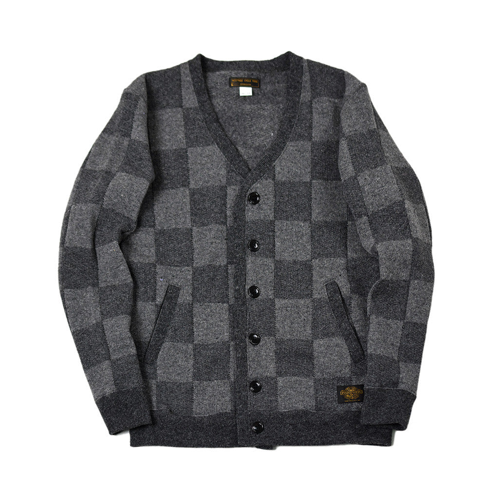 May club -【WESTRIDE】TIGHT CARDIGAN CHECKER