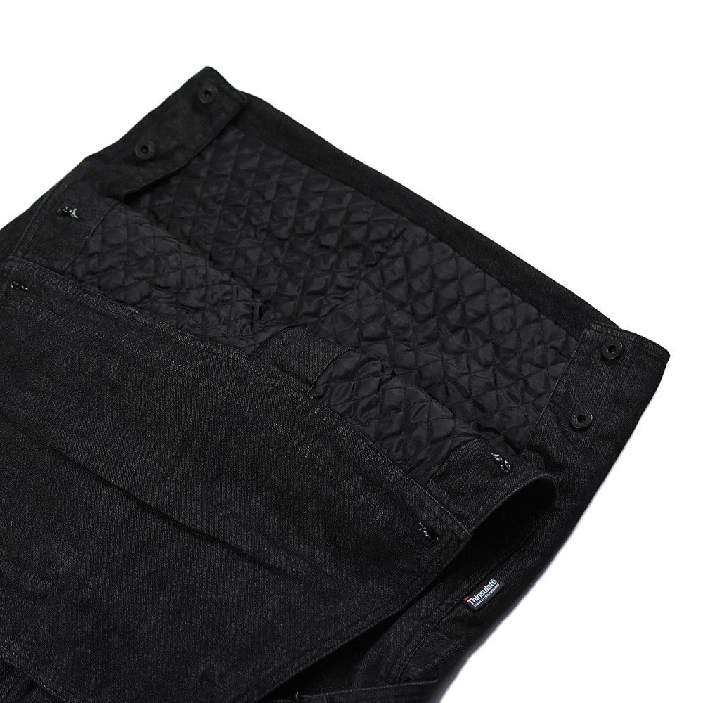 May club -【THE HIGHEST END】Overall Quilting Liner (Thinsulate)- Black Denim