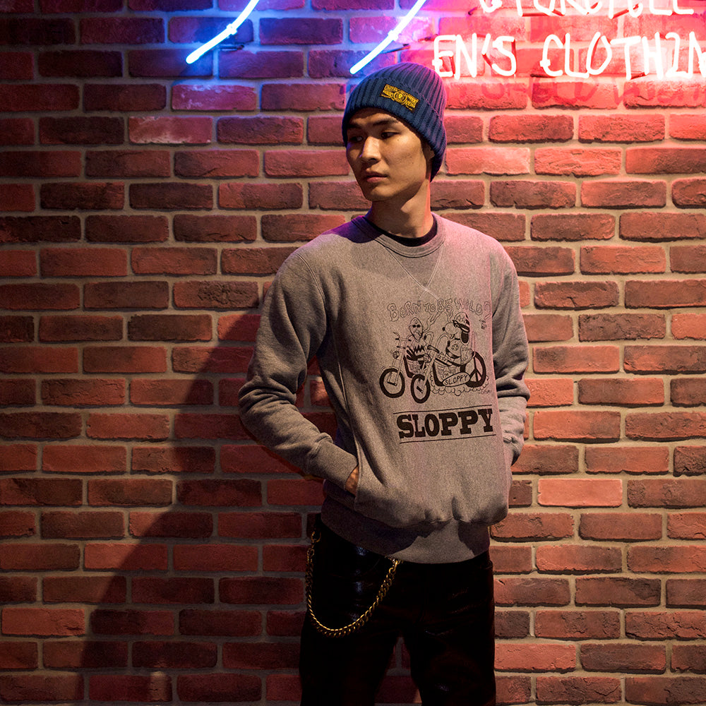 "May club -【WESTRIDE】HEAVY WEIGHT FRONT V SWEAT ""SLOPPY"" - GRAY"
