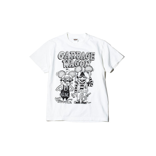 May club -【WESTRIDE】GARBAGE WAGON LOGO TEE - VANILLA