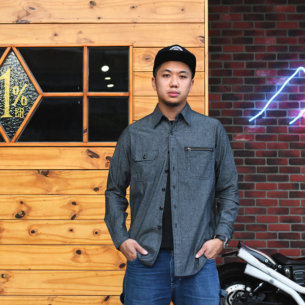 May club -【B.W.G JAPAN】CHAMBRAY SHIRTS - BLACK