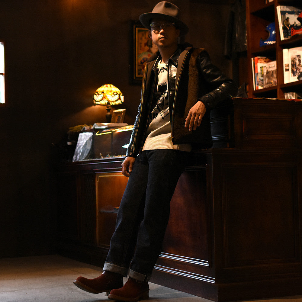 May club -【BAD QUENTIN】REVERSIBLE GRIZZLY VEST
