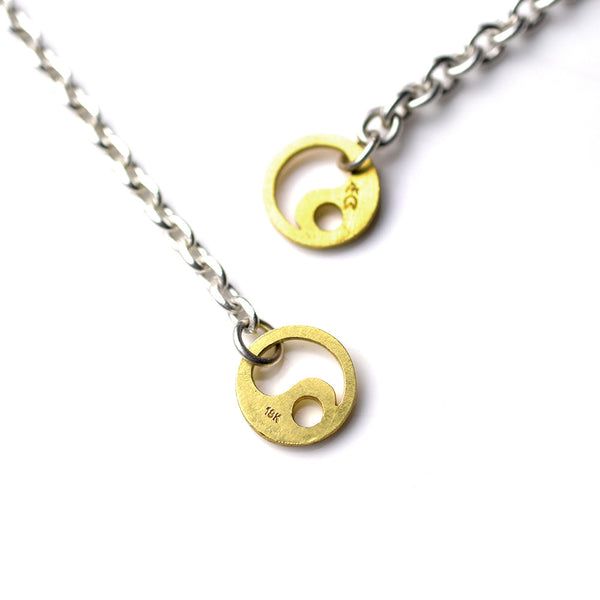 SILVER CHAIN WITH 18K TAICHI HOOK