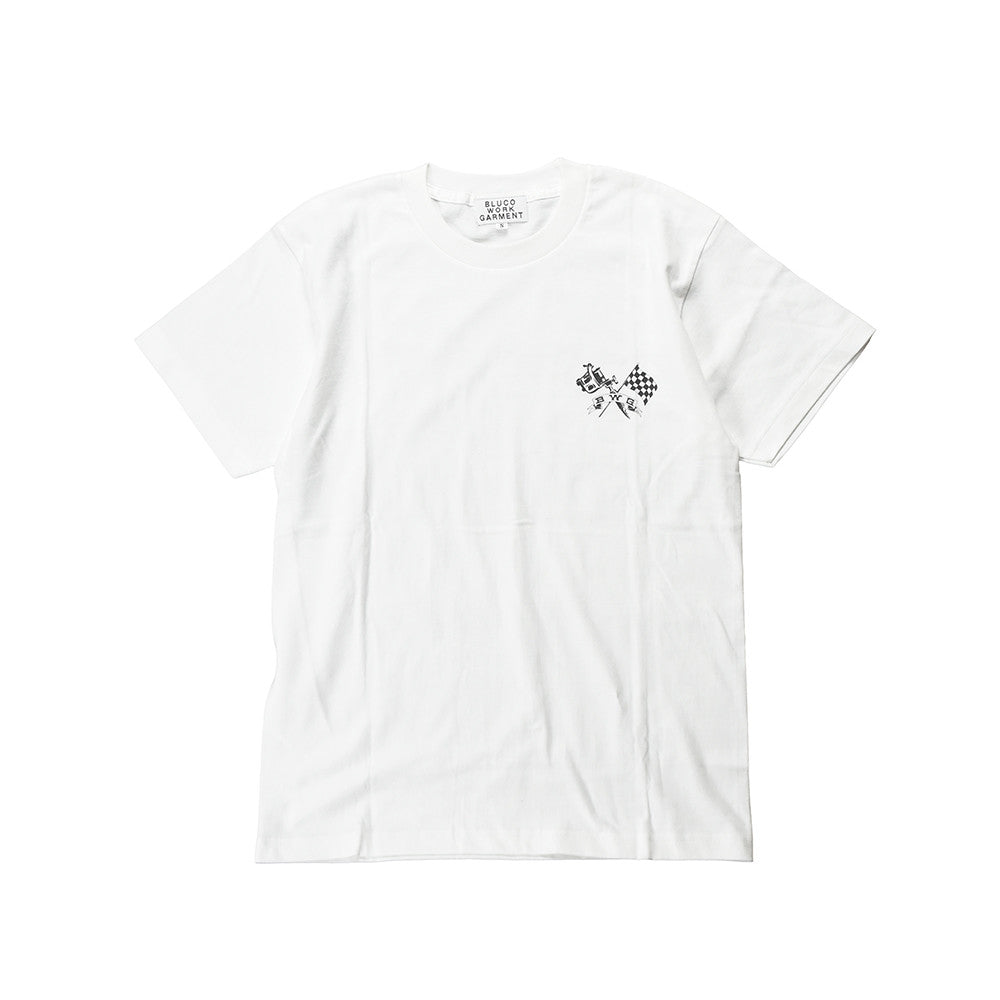 "May club -【B.W.G JAPAN】B.W.G x Magical Design ""Checker Ink"" Tee - White"