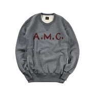 "May club -【WESTRIDE】HEAVY WEIGHT FRONT V SWEAT ""A.M.C"" - GRAY"