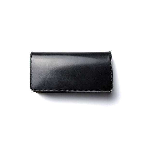May club -【Addict Clothes】ACV-W01S UK BRIDLE LEATHER LONG WALLET - BLACK