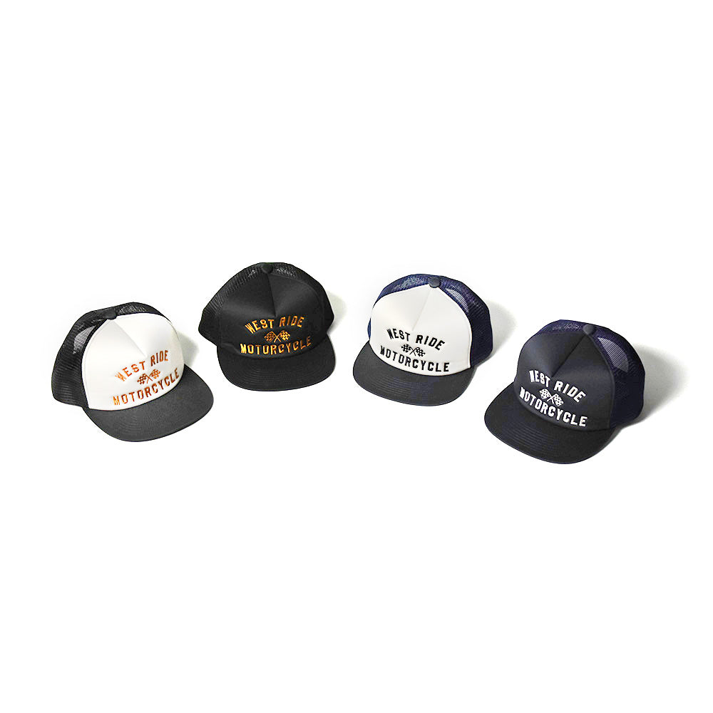 May club -【WESTRIDE】TWILL MESH CAP - CHECKER FLAG