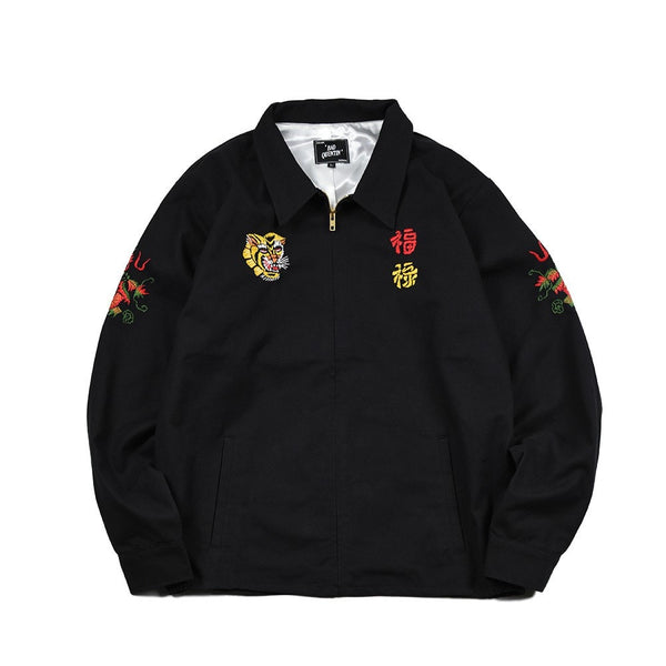 May club -【BAD QUENTIN】VIET-NAM SOUVENIR JACKET - BLACK
