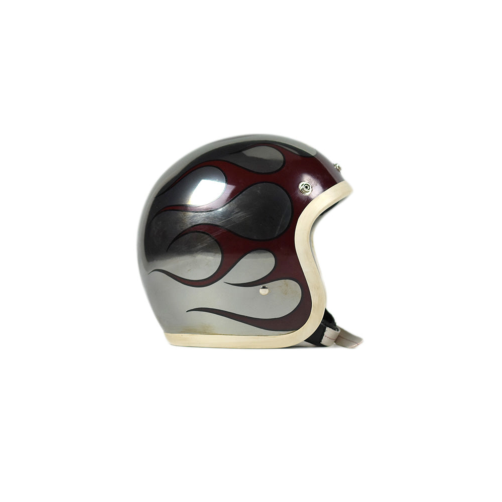 May club -【JACKSUN'S】JACKSUN'S x OCEAN BEETLE LIMITED A.S.C HELMET - CHROME / FIRE