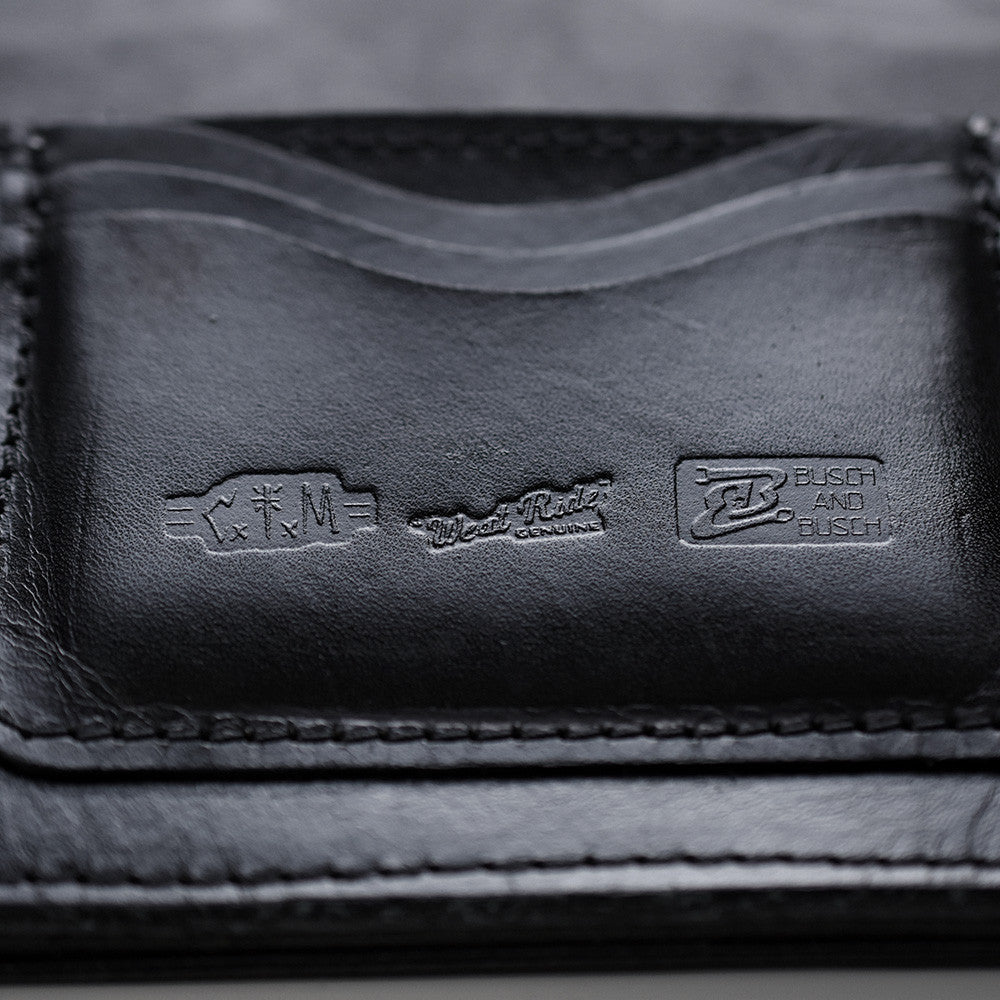 May club -【WESTRIDE】OLD BIKER LEATHER WALLET - BLUE PATCH