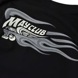 May club -【May club】KUSTOM KULTURE L/S TEE - HOT WHEEL FIRE SLEEVE(BLACK)