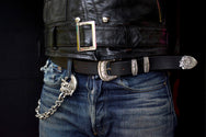 May club -【May club】MAY CLUB ALL SILVER WESTERN BELT - 三件組