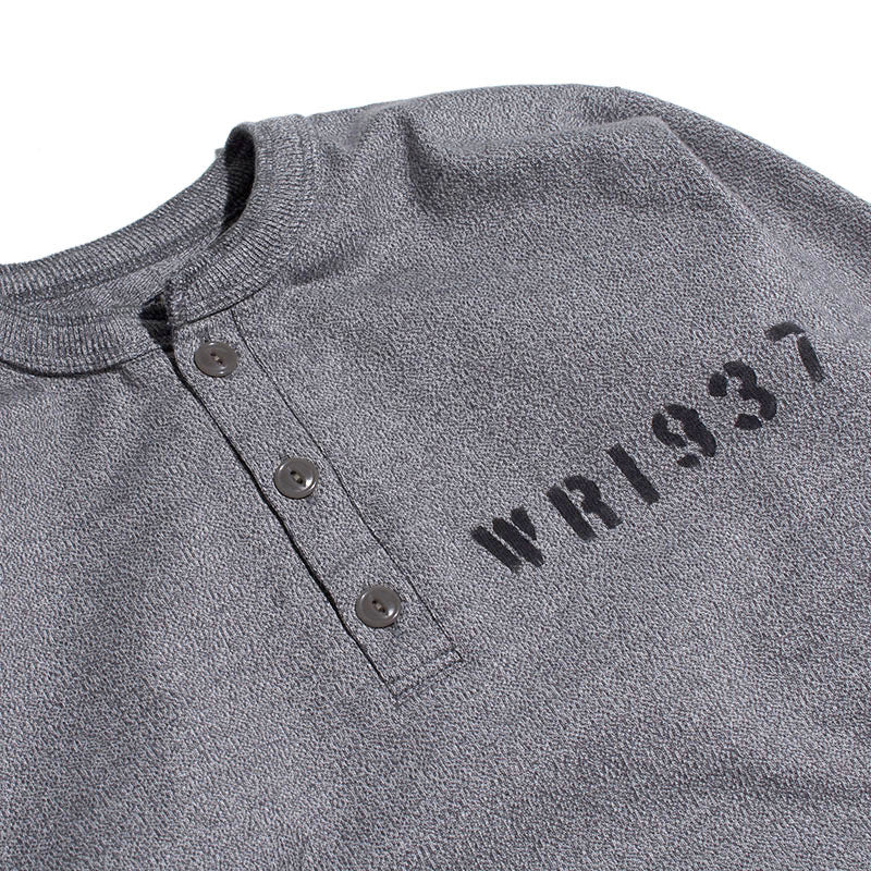 HENLY NECK LONG SLEEVE TEE - H.GRY