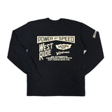 "May club -【WESTRIDE】""POWER AND SPEED"" LONG SLEEVES TEE  - BLACK"