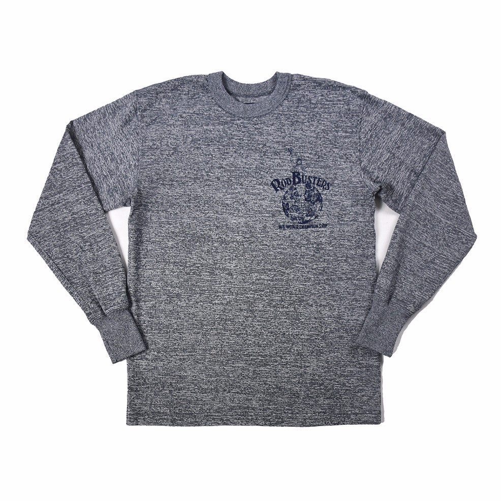 "May club -【WESTRIDE】""ROD BUSTERS"" LONG SLEEVES TEE - GREY"