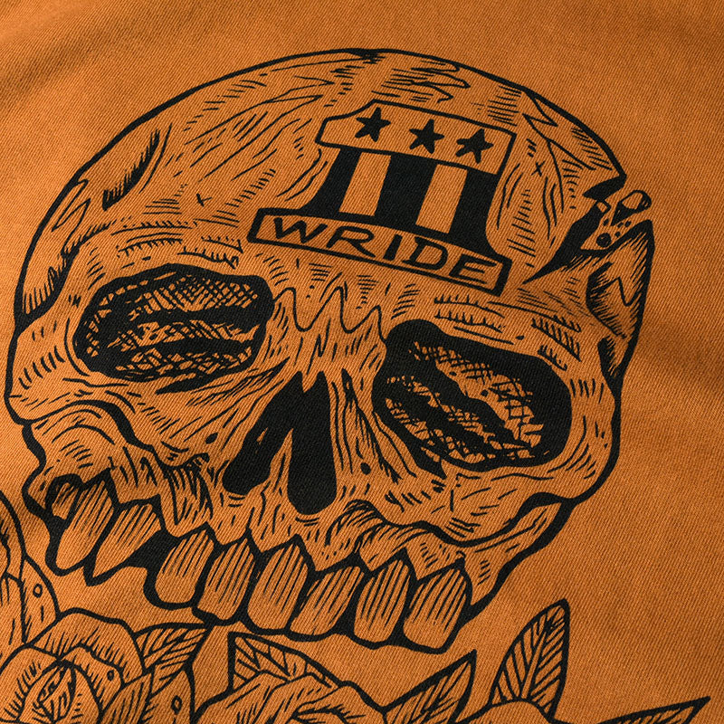 "May club -【WESTRIDE】""SKULL & ROSES"" TEE - COGNAC"