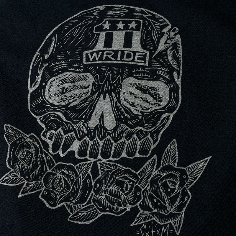 "May club -【WESTRIDE】""SKULL & ROSES"" TEE - BLACK"