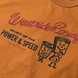 "May club -【WESTRIDE】""POWER AND SPEED PISTON"" TEE - COGNAC"