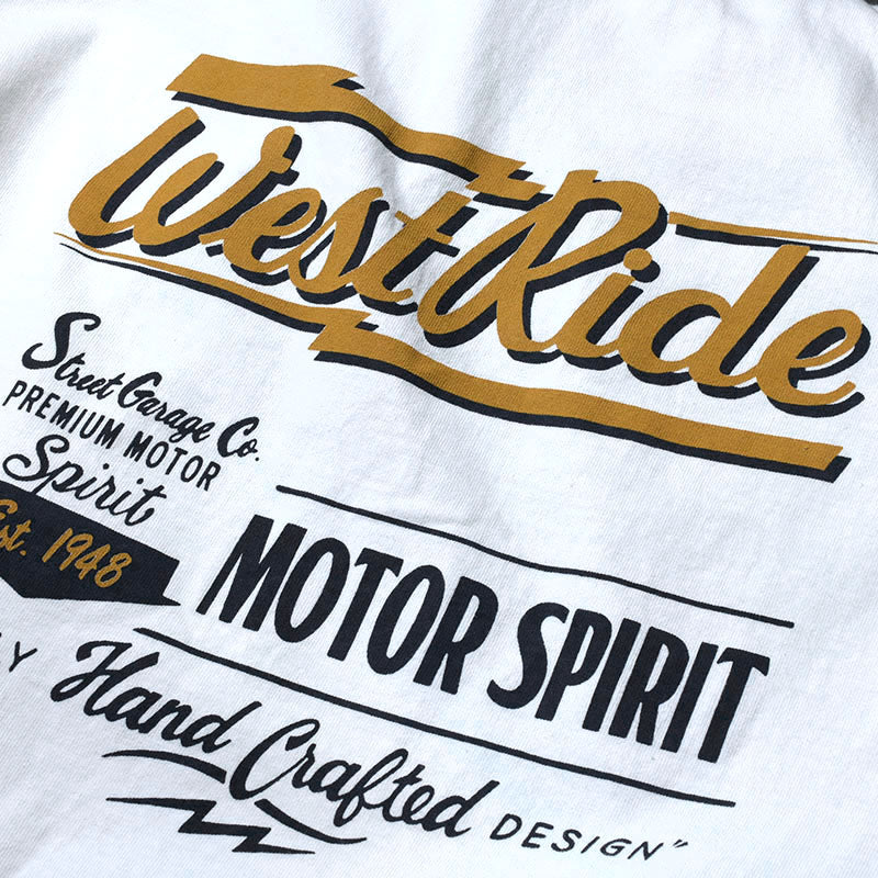 "May club -【WESTRIDE】""MOTOR SPIRIT"" TEE - WHITE"