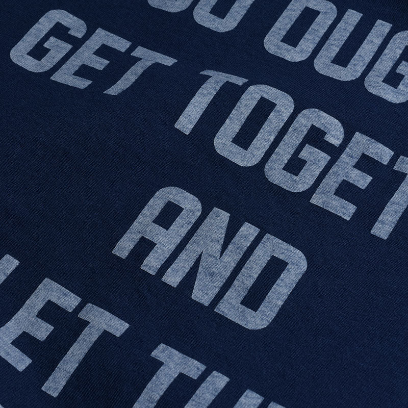 "May club -【WESTRIDE】""GET TOGETHER"" TEE - FADE NAVY"