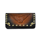 May club -【WESTRIDE】OLD BIKER LEATHER WALLET RIVET - EMBOSS