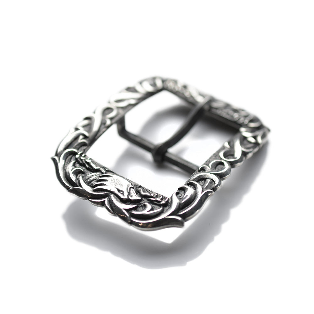 NATIVE AMERICAN SILVER BELT BUCKLE - EAGLE