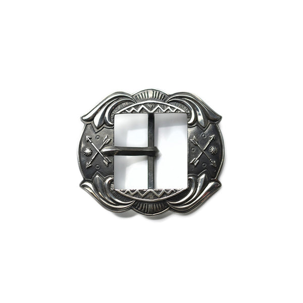 NATIVE AMERICAN SILVER BELT BUCKLE - CHIEF