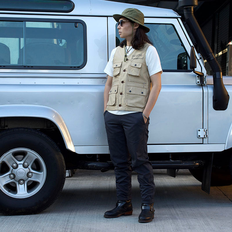 May club -【WESTRIDE】THICK RIDE SLIM CHINO - GREY