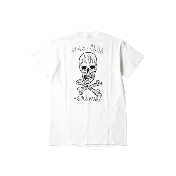 MAY CLUB x C.T.M SKULL TEE - WHITE