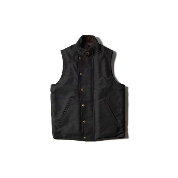 May club -【Addict Clothes】BOA LINED ULSTER VEST - BLACK
