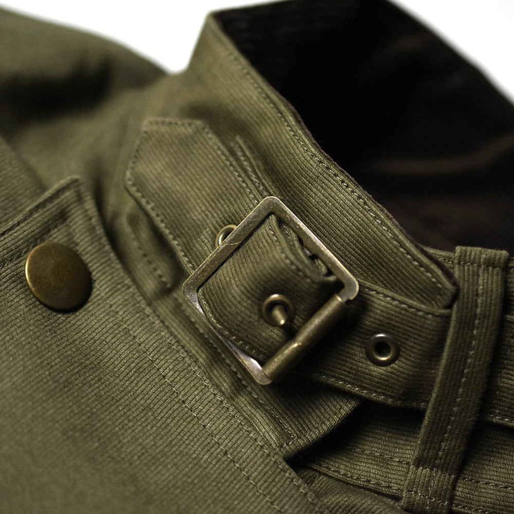 May club -【Addict Clothes】BOA LINED ULSTER VEST - KHAKI GREEN