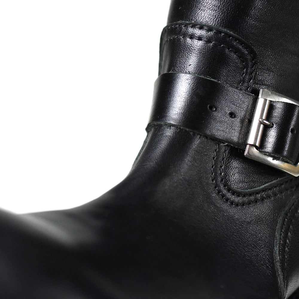 May club -【Addict Clothes】AD-S-01 HORSEHIDE ENGINEER BOOTS - BLACK