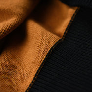 May club -【WESTRIDE】CLASSIC H.ZIP BORDER JERSEY - BLK/GLD